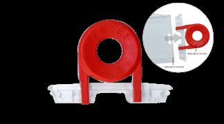 Klíč k otevření mechanismu červený