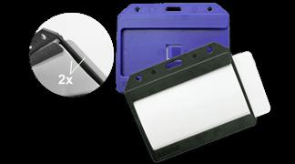 Multikartové horizontální pouzdro modré