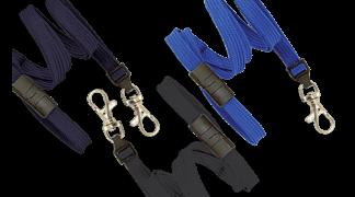 Polyesterová šňůrka na krk 10mm modrá